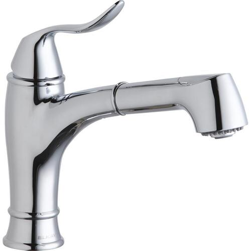 Elkay Explore Single Hole Bar Faucet with Pull-out Spray Lever Handle