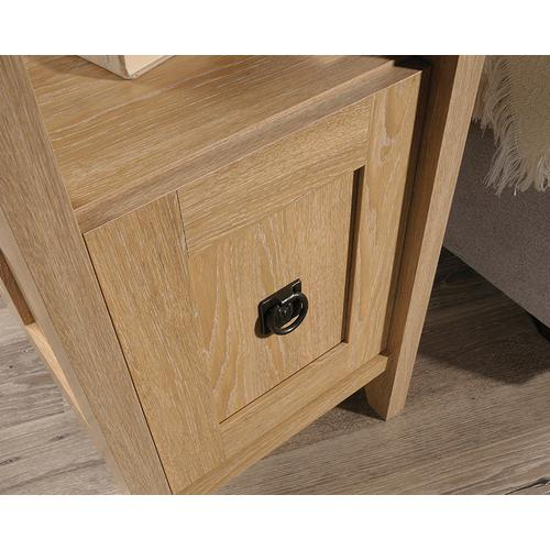 Side Table with Drawer & Open Shelf