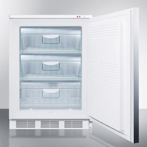 Commercial Built-in Medical All-freezer Capable of -25 C Operation, With Wrapped Stainless Steel Door and Horizontal Handle