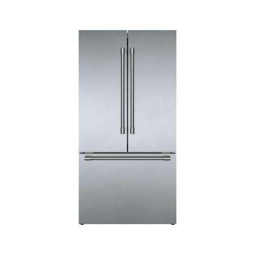 800 Series French Door Bottom Mount Refrigerator Easy clean stainless steel B36CT81SNS