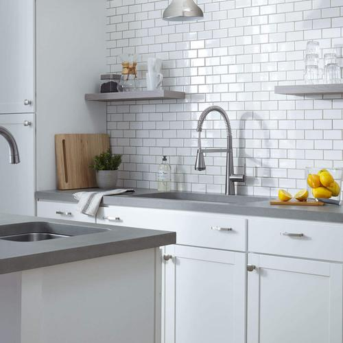 Edgewater Semi-Professional Kitchen Faucet with SelectFlo  American Standard - Stainless Steel