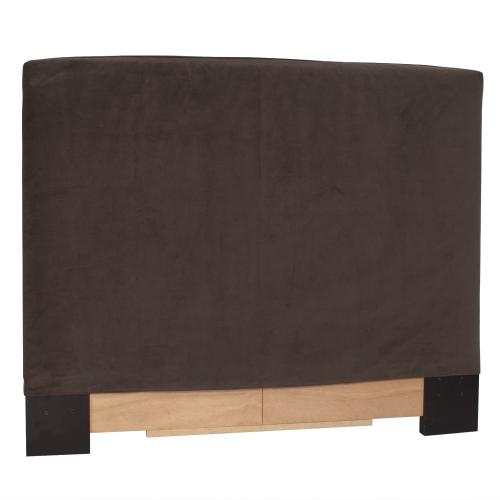 Twin Slipcovered Headboard Bella Chocolate
