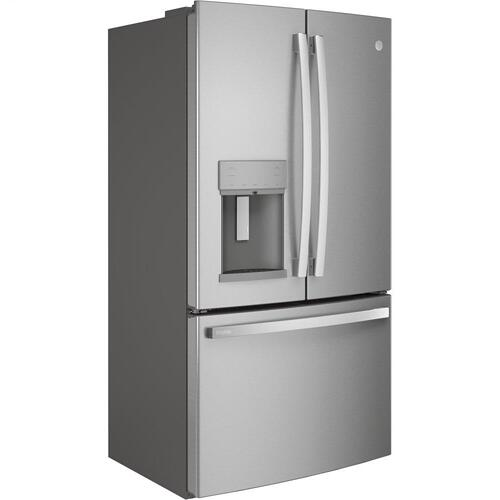 GE Appliances - GE Profile™ Series ENERGY STAR® 27.7 Cu. Ft. Fingerprint Resistant French-Door Refrigerator with Hands-Free AutoFill