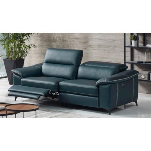 VIG Furniture - Divani Casa Melstone - Modern Blue Leatherette Sofa w/ Electric Recliners