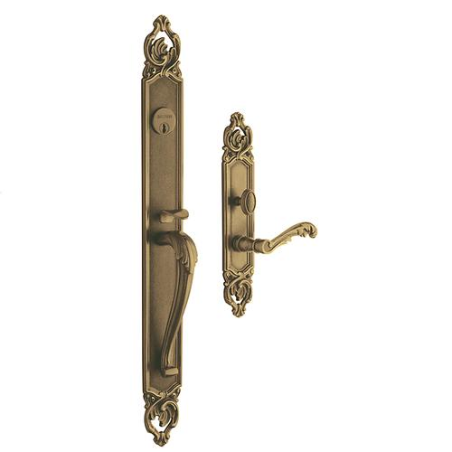 Satin Brass and Brown Victoria Entrance Trim