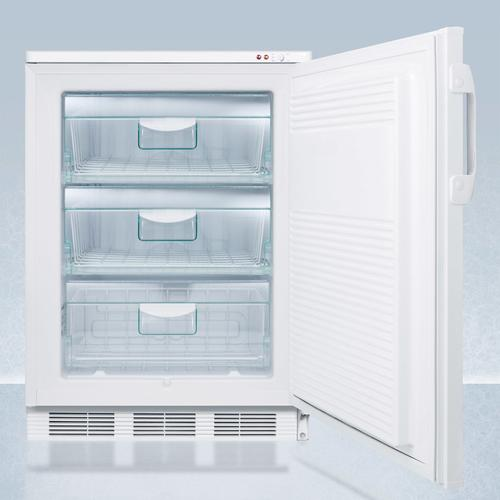 """24"""" Wide All-freezer for Freestanding Use, Manual Defrost With A Nist Calibrated Thermometer, Lock, and -25 c Capability"""
