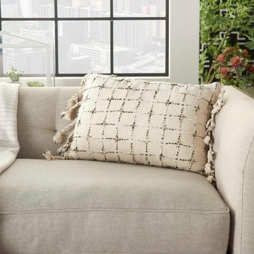"Life Styles Gt119 Natural 14"" X 20"" Throw Pillow"