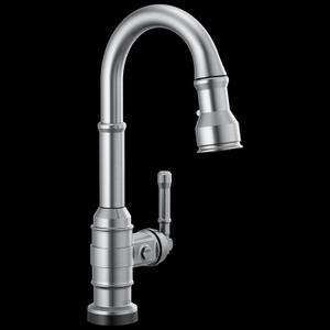 Arctic Stainless Single Handle Pull-Down Bar/Prep Faucet with Touch 2 O Technology Product Image