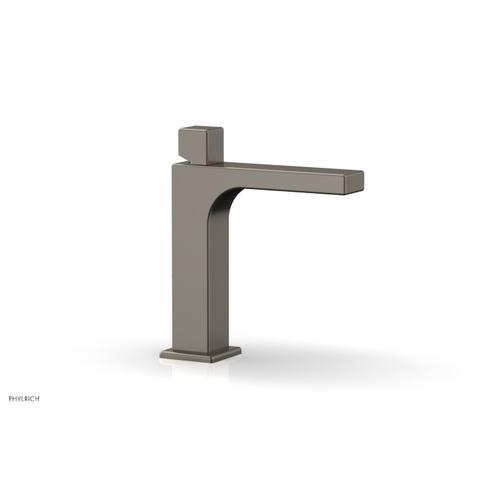 MIX Single Hole Lavatory Faucet, Cube Handle 290-08 - Pewter