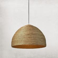 See Details - Large Size Natural Seagrass Shade Alor Pendant