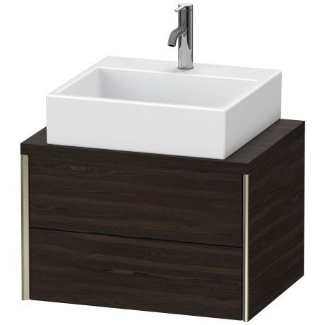 Vanity Unit For Console Compact, Brushed Walnut (real Wood Veneer)