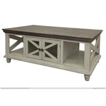 See Details - 4 Door, Cocktail Table, Ivory finish