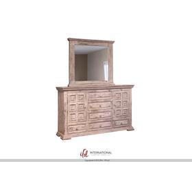 Terra 6 Drawer, 2 Doors Dresser White