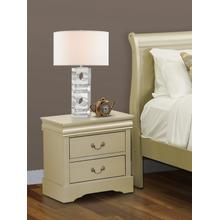 Louis Philippe Night Stand in Metallic Gold Finish