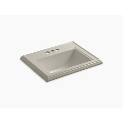 "Sandbar Classic Drop-in Bathroom Sink With 4"" Centerset Faucet Holes"