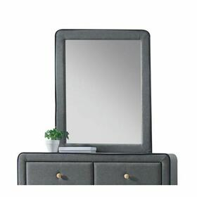 ACME Valda Mirror - 24524 - Light Gray Fabric