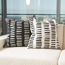 See Details - I See You Hear Pillow-Black/Beige