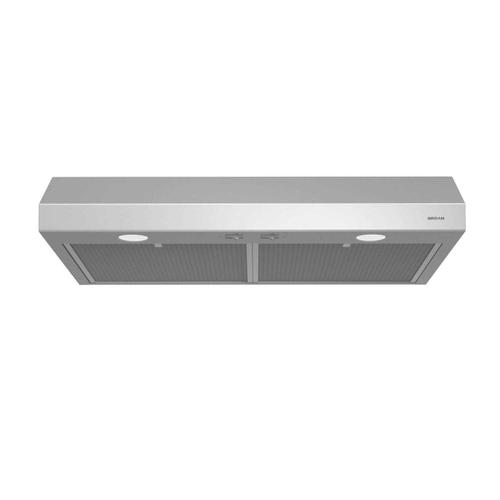 Glacier 30-Inch 250 CFM Stainless Steel Range Hood with light