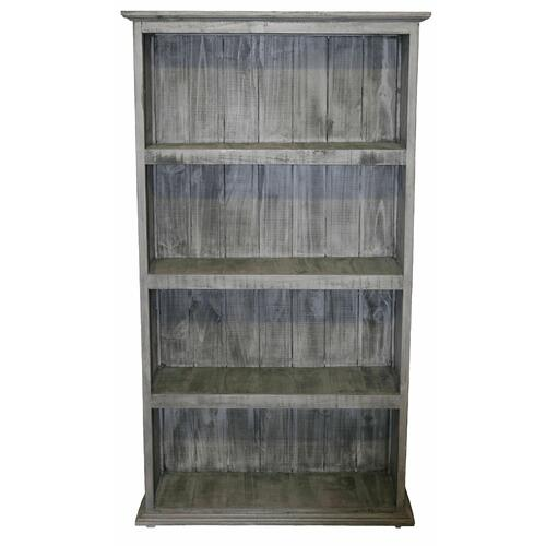 Million Dollar Rustic - Charcoal Gray Large Bookcase