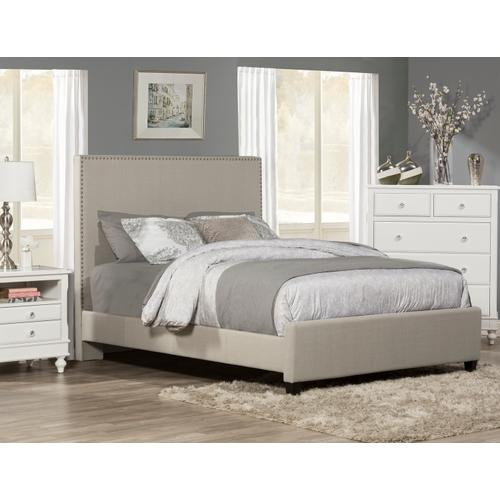 Megan King Bed - Dove Gray