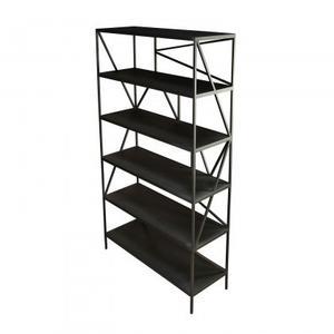 Theo Metal Bookcase/Iron/Matte Black/38*14*76
