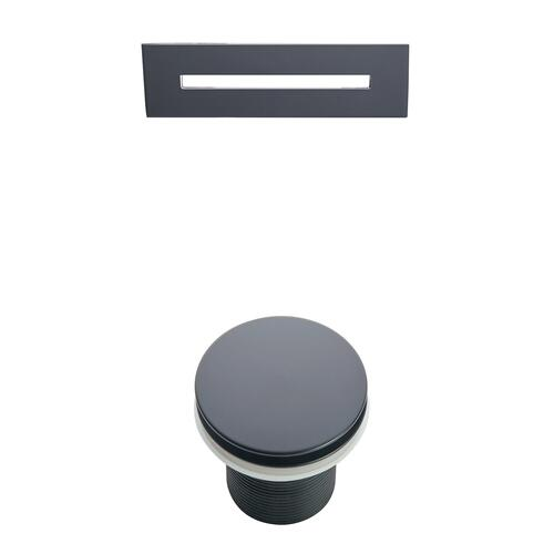 """Melanie 68"""" Acrylic Slipper Tub with Integral Drain and Overflow - Matte Black Drain and Overflow"""