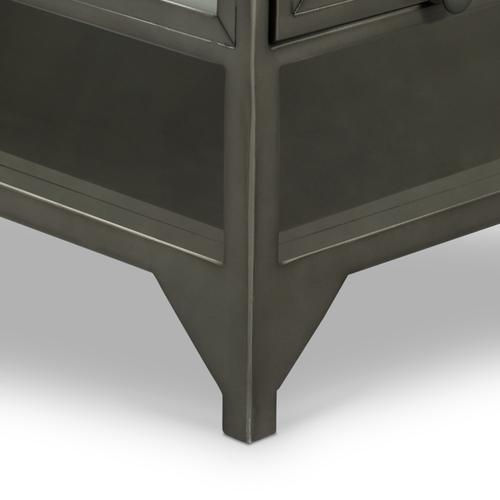 Gunmetal Finish Shadow Box Coffee Table