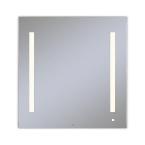 """Aio 29-1/8"""" X 29-7/8"""" X 1-1/2"""" Lighted Mirror With Lum Lighting At 2700 Kelvin Temperature (warm Light), Dimmable, Usb Charging Ports and Om Audio"""