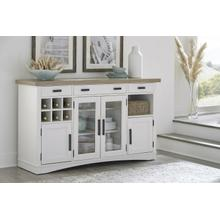 See Details - AMERICANA MODERN DINING Buffet Server 66 in. x 19 in. with quartz insert