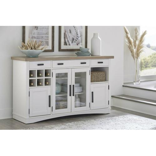 Gallery - AMERICANA MODERN DINING Buffet Server 66 in. x 19 in. with quartz insert
