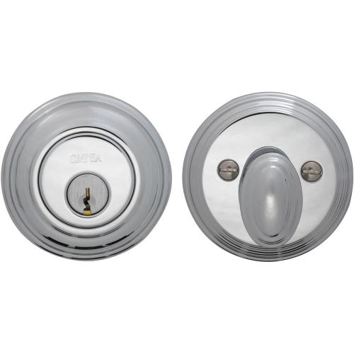 Traditional Auxiliary Deadbolt Kit in (US26 Polished Chrome Plated)