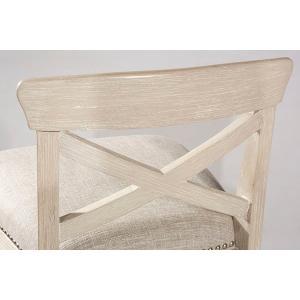 Gallery - Bayview Wood X-back Non-swivel Bar Stool - White Wirebrush