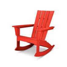 View Product - Quattro Adirondack Rocking Chair in Sunset Red