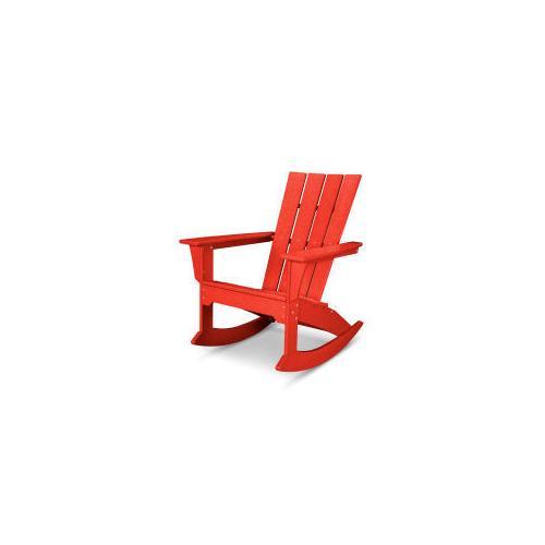 Polywood Furnishings - Quattro Adirondack Rocking Chair in Sunset Red