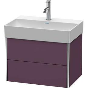 Vanity Unit Wall-mounted Compact, Aubergine Satin Matte (lacquer)