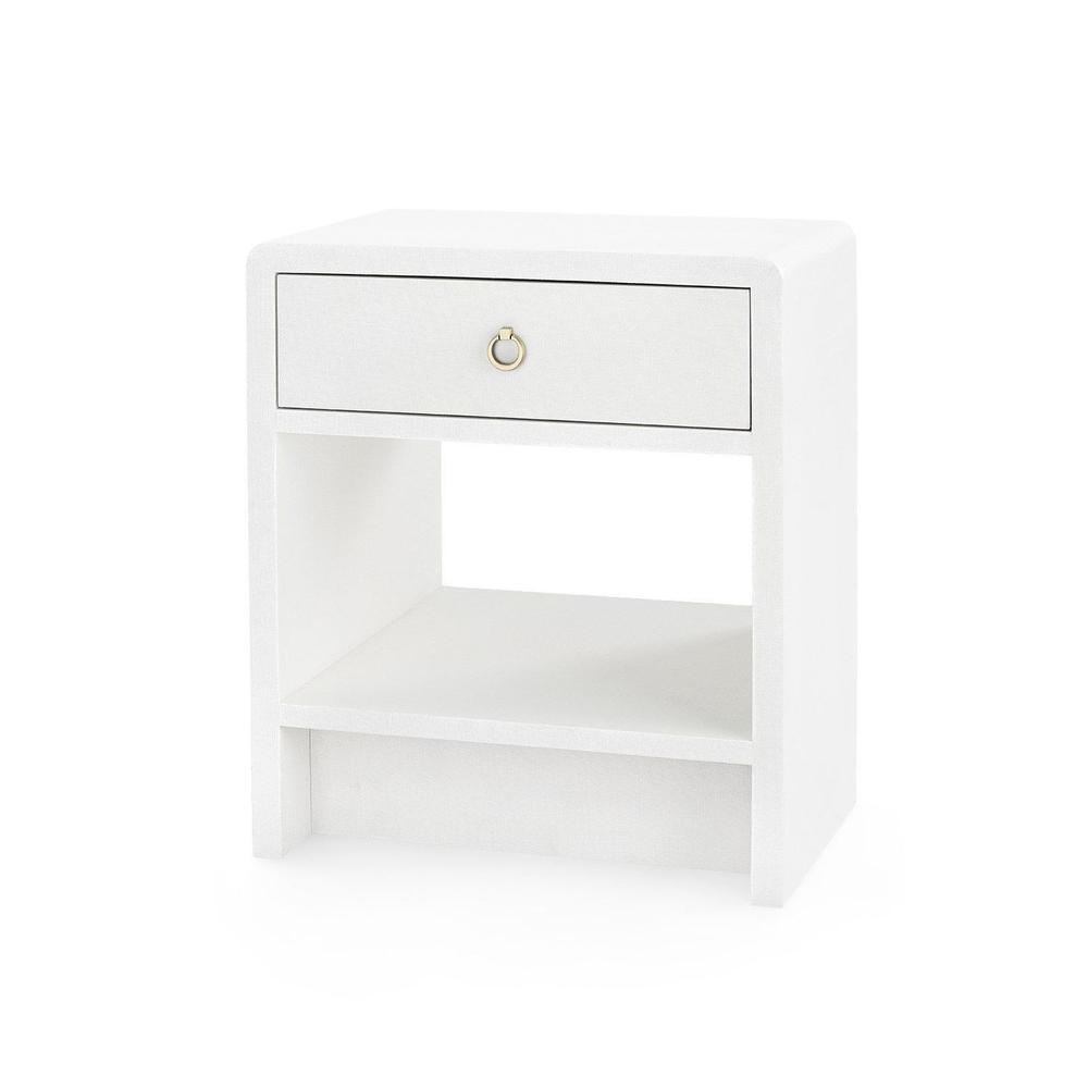 See Details - Benjamin 1-Drawer Side Table, White Linen