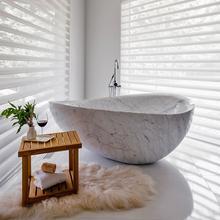See Details - Papillon Bathtub Carrara Marble