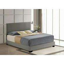 ACME Ireland III Queen Bed (Panel) - 24320Q - Gray PU