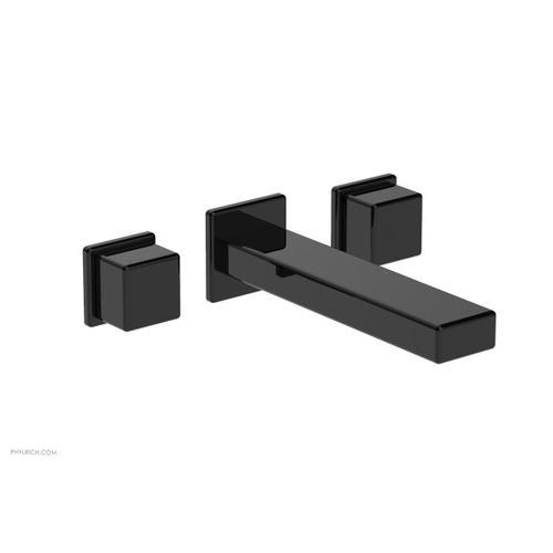 MIX Wall Lavatory Set - Cube Handles 290-14 - Gloss Black