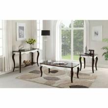 ACME Mathias Coffee Table - 80680 - Walnut & White