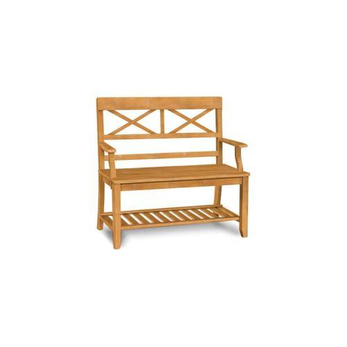 John Thomas Furniture - Double X Back Bench