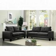 ACME Platinum II Sofa & Loveseat - 52735 - Gray Linen Product Image