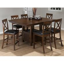 Olsen Oak Counter Height Table With Four Stools