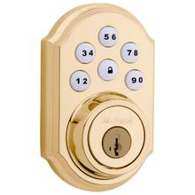 View Product - 909 SmartCode Traditional Electronic Deadbolt - Lifetime Polished Brass