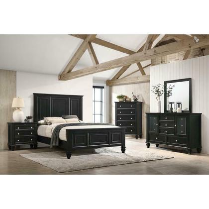 See Details - Sandy Beach Black Queen Storage Bed