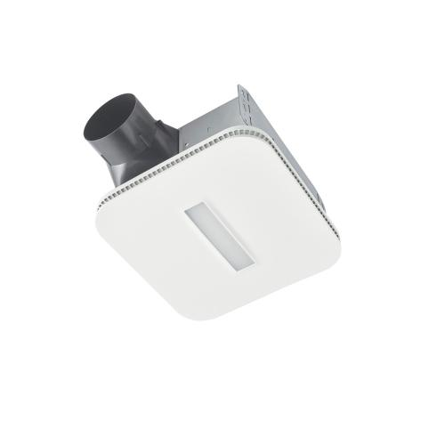 80 CFM Bathroom Exhaust Fan with LED Lighted CleanCover Grille, ENERGY STAR
