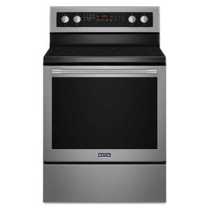30-Inch Wide Electric Range With True Convection And Power Preheat - 6.4 Cu. Ft. - FINGERPRINT RESISTANT STAINLESS STEEL