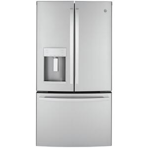 GE® ENERGY STAR® 22.1 Cu. Ft. Counter-Depth Fingerprint Resistant French-Door Refrigerator Product Image