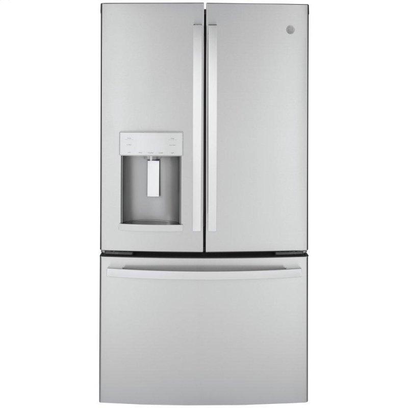 GE(R) ENERGY STAR(R) 22.1 Cu. Ft. Counter-Depth Fingerprint Resistant French-Door Refrigerator