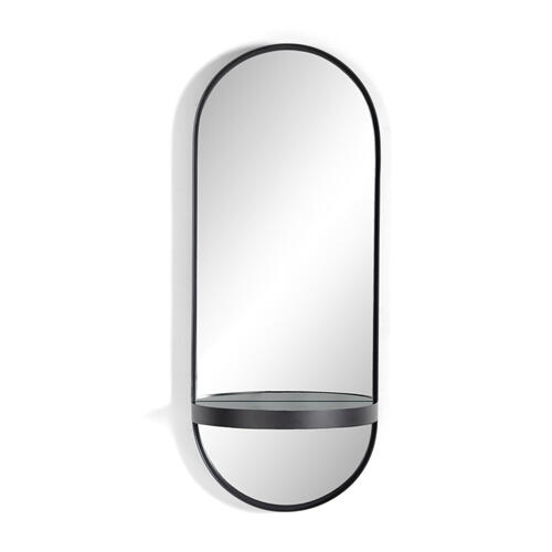 Hart Mirror-slate Blue Glass